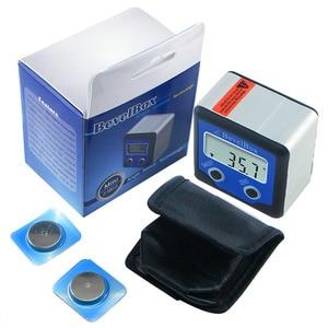 Image 2 - זווית Finder מד זוית Inclinometer עם 3 חזק דיסק מגנט עמיד למים דיגיטלי פוע תיבת מד