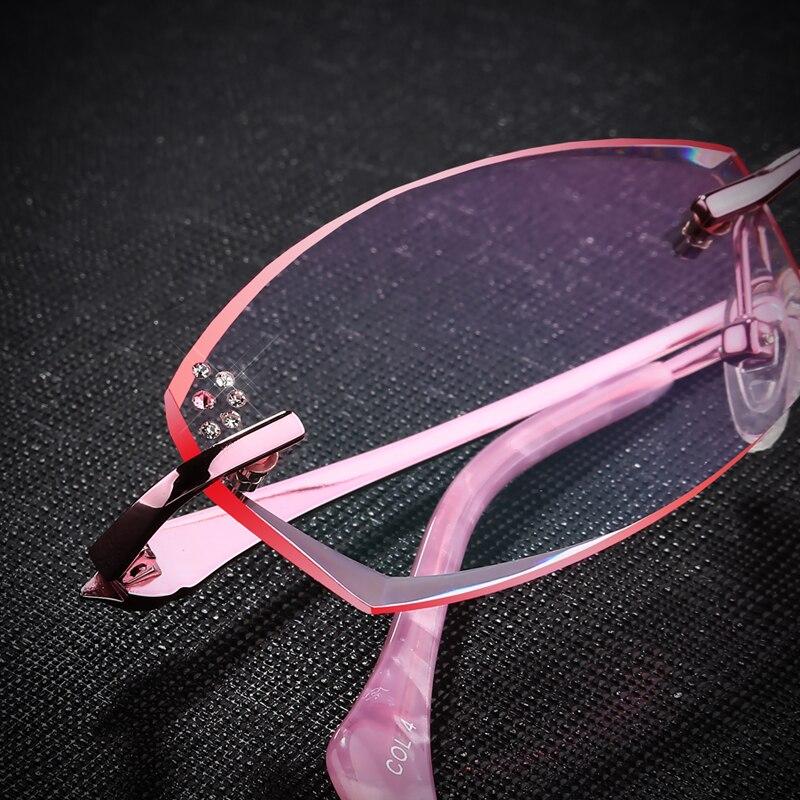 a51a827183 Rimless Glasses Prescription Glasses frame Women s Optical glasses Myopia  Hyperopia Progressive prescription 13-in Prescription Glasses from Apparel  ...
