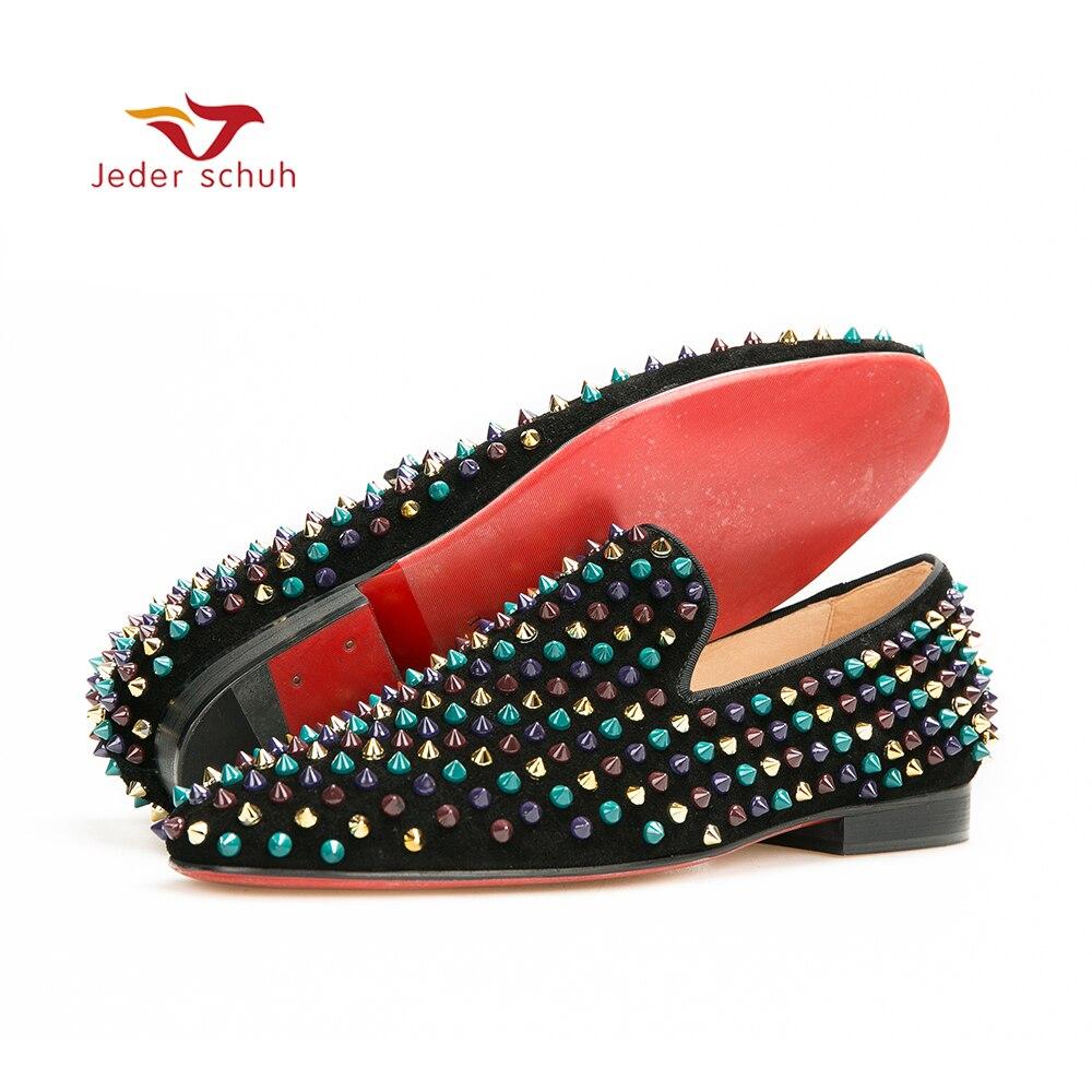Jeder Schuh men loafers color rivet design, men's casual shoes, wedding and banquet shoes men's handmade shoes