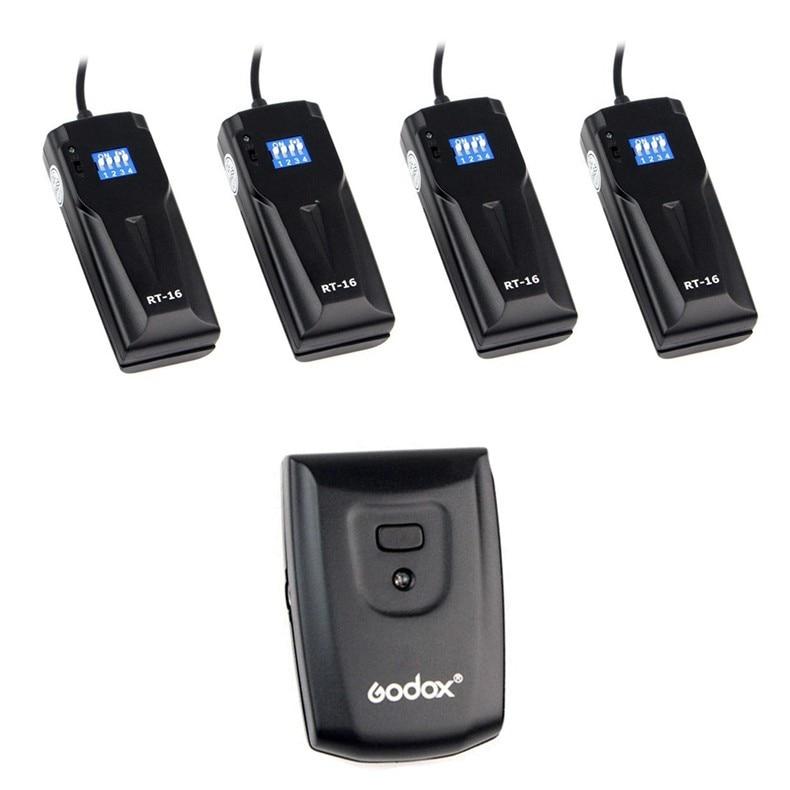 ФОТО High Quality GODOX RT-16 Wireless Photo Studio Flash Trigger with 4 Receivers For Canon Nikon DSLR