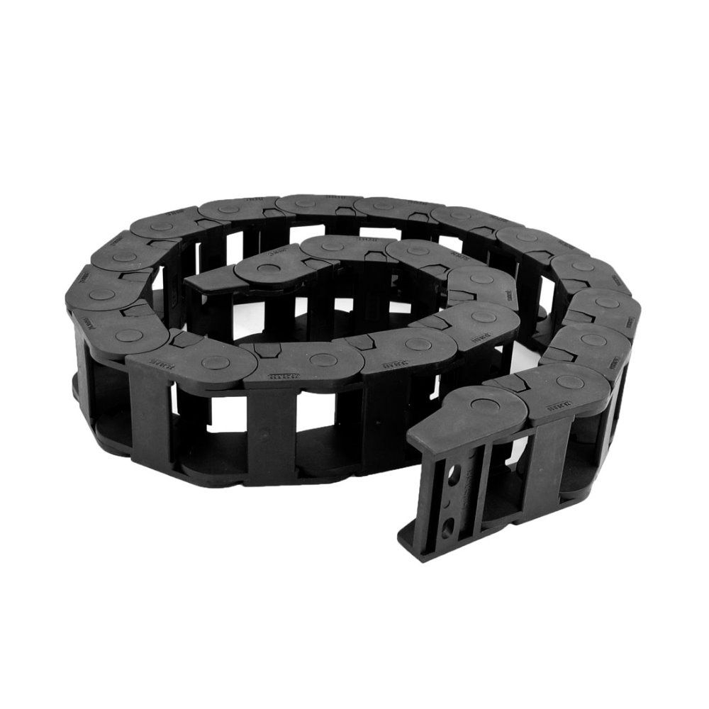 цена на UXCELL Hot Sale 106cm Long Black Cable Wire Carrier Drag Chain Nested 25mm x 38mm for CNC Machine Tools, Electronic Equipment