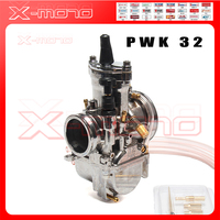 PWK 32 Carburetor Silver 28mm 30mm 32mm 34mm Motorcycle Accessories Carburetor Brand New PWK KOSO Carburetor With Power Jet