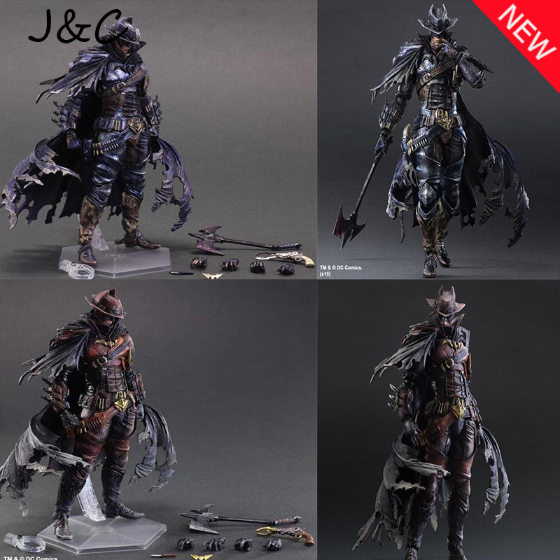 Hot Movie PLAY ARTS PA The Cowboy Batman PVC Action Figure Statue Doll Toy 28cm Model toys Hot Sale free shipping new marvel hot movie play arts pa the red batman pvc action figure statue doll toy 27cm model toys hot sale gs060