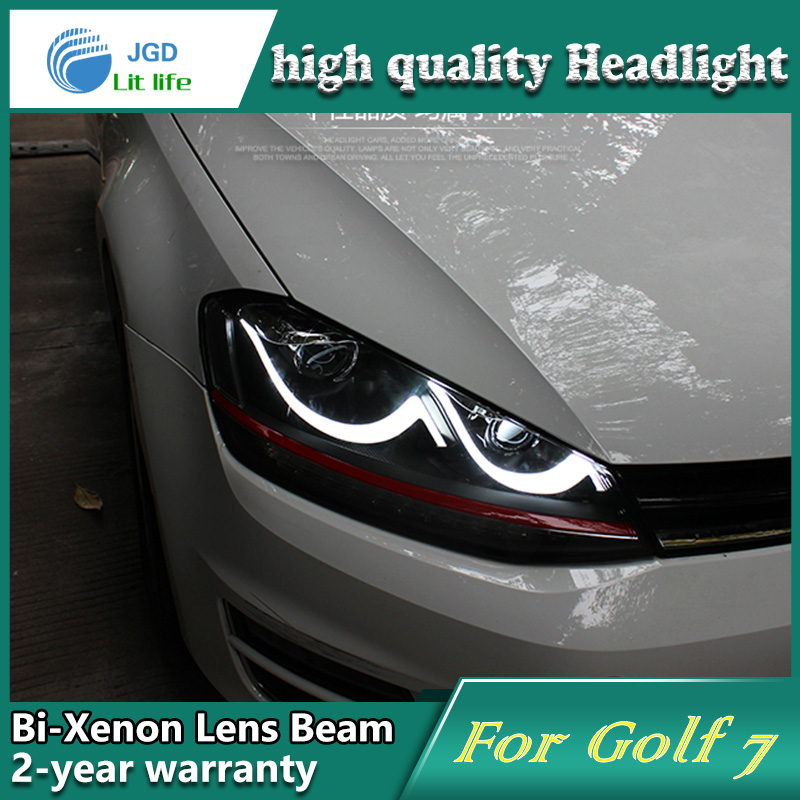 high quality Car Styling Head Lamp case for VW Golf 7 Golf7 LED Headlight DRL Daytime Running Light Bi-Xenon HID Accessories high quality h3 led 20w led projector high power white car auto drl daytime running lights headlight fog lamp bulb dc12v