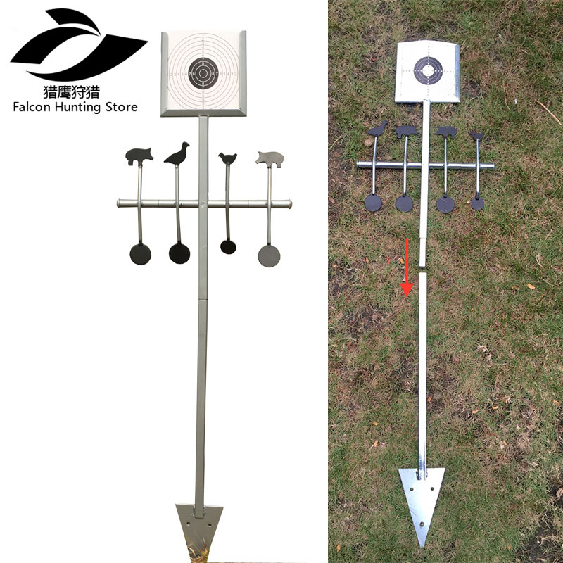 Tactical Skill  Durable Airgun Spinner Target With 20 Pcs Of Paper Targets / Also Suitable For Airsoft, Paintball And Slingshot