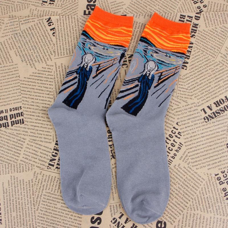 Womens Socks Mural Art Casual Socks Men Graffiti Unisex Socks Paintings Sock