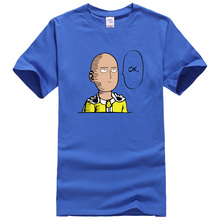 One Punch Man Saitama T-shirts – blue