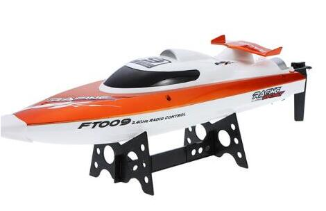 Top Quality Original FT009 2.4G 4CH Water Cooling System Self-righting 30km/h High Speed 360 Degree Flips Racing RC Boat Gifts ...