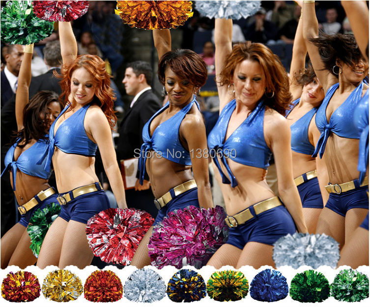 10pc High Quality Game Pompoms Cheerleader Dancing Pom Poms Sports Match Conncert Dance Hand Flower Ball Party Props 30cm