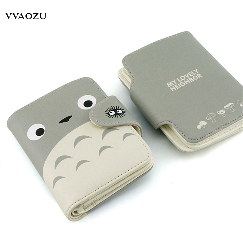 My Neighbor Totoro Wallet Lovely Cat Japanese Anime Short Purse Hasp Ladies Wallet Card Holder for Students pu short wallet purse with colorful printing of japanese anime tonari no totoro my neighbor totoro