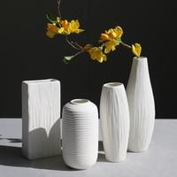 11 Style w Europejskim stylu Pulpit Ozdoby Proste Nowoczesny Biały Wazon Ceramiczny Wazon Domu Mody Eleganckie Ozdoby