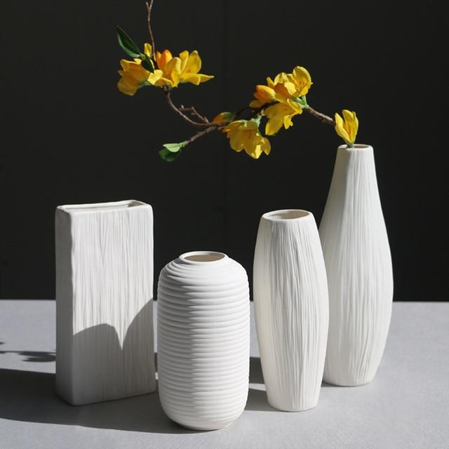 11 Styles European Style Desktop Ceramic Vase Ornaments Simple