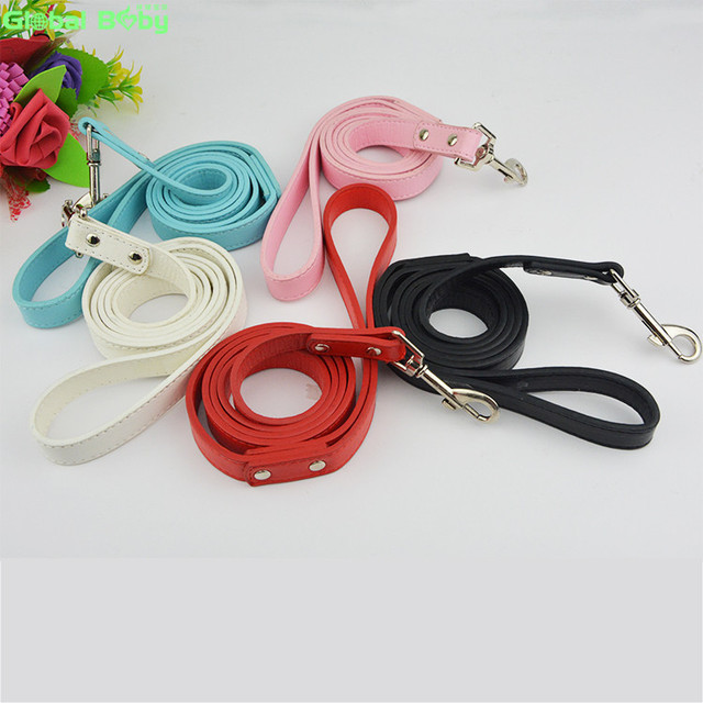 Free Shipping Brand 5 Colors 120cm Length Leather Dog Strong Leashes Pet Lead
