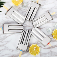 Stainless Steel DIY Ice Lolly Stick Maker Mold Ice Cream Moulds Reusable Tool Best Price