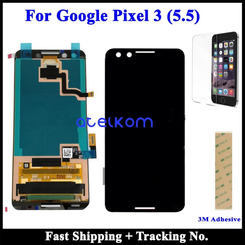 100 Super AMOLED LCD Original For Google Pixel 3XL LCD Pixel 3 For Google Pixel 3