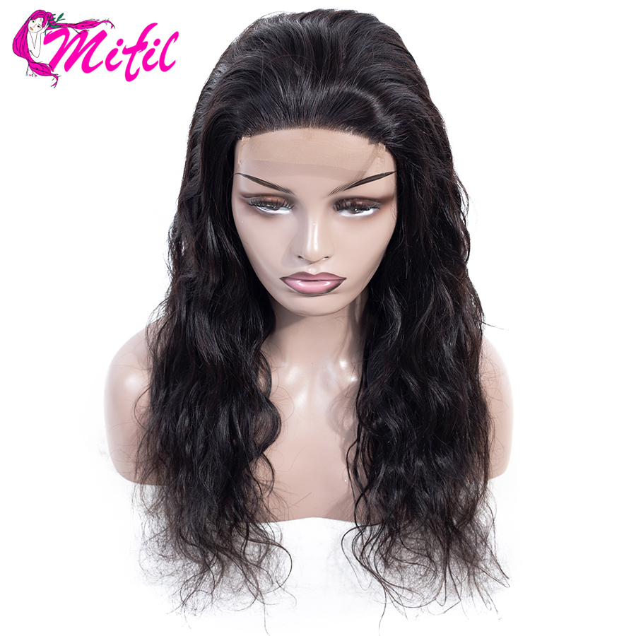 Mifil Body Wave Wig Lace Front Human Hair Wigs For Women Remy 4x4 Peruvian Hair Lace Closure Wigs With Baby Hair(China)