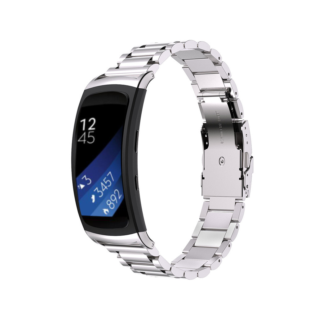 genuine stainless steel bracelet smart watch band strap for samsung gear fit 2 sm r360 watches