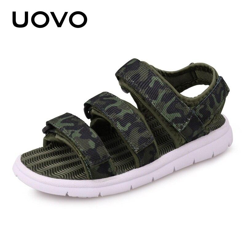 UOVO 2020 Summer Kids Sandals Boys And Girls Slides Children Summer Beach Sandals New Arrive Little Kids Shoes Eur Size #25-37