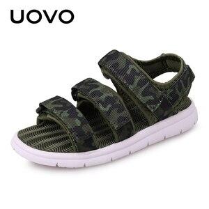Image 1 - UOVO 2020 Summer Kids Sandals Boys And Girls Slides Children Summer Beach Sandals New Arrive Little Kids Shoes Eur Size #25 37