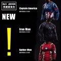 2016New Moda Camisa De Compressão Homens Fitness Superman Spiderman Batman Capitão América Homem De Ferro tshirt Crossfit Roupas Suave