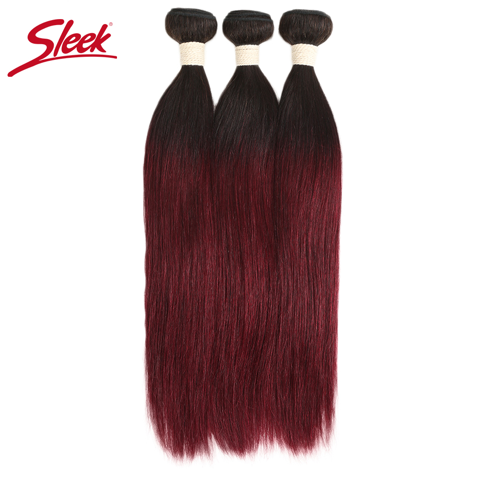 ARIEL Pre Colored Ombre Brazilian 3 Bundles With Lace Closure 1B 27 Straight Hair Weave Remy