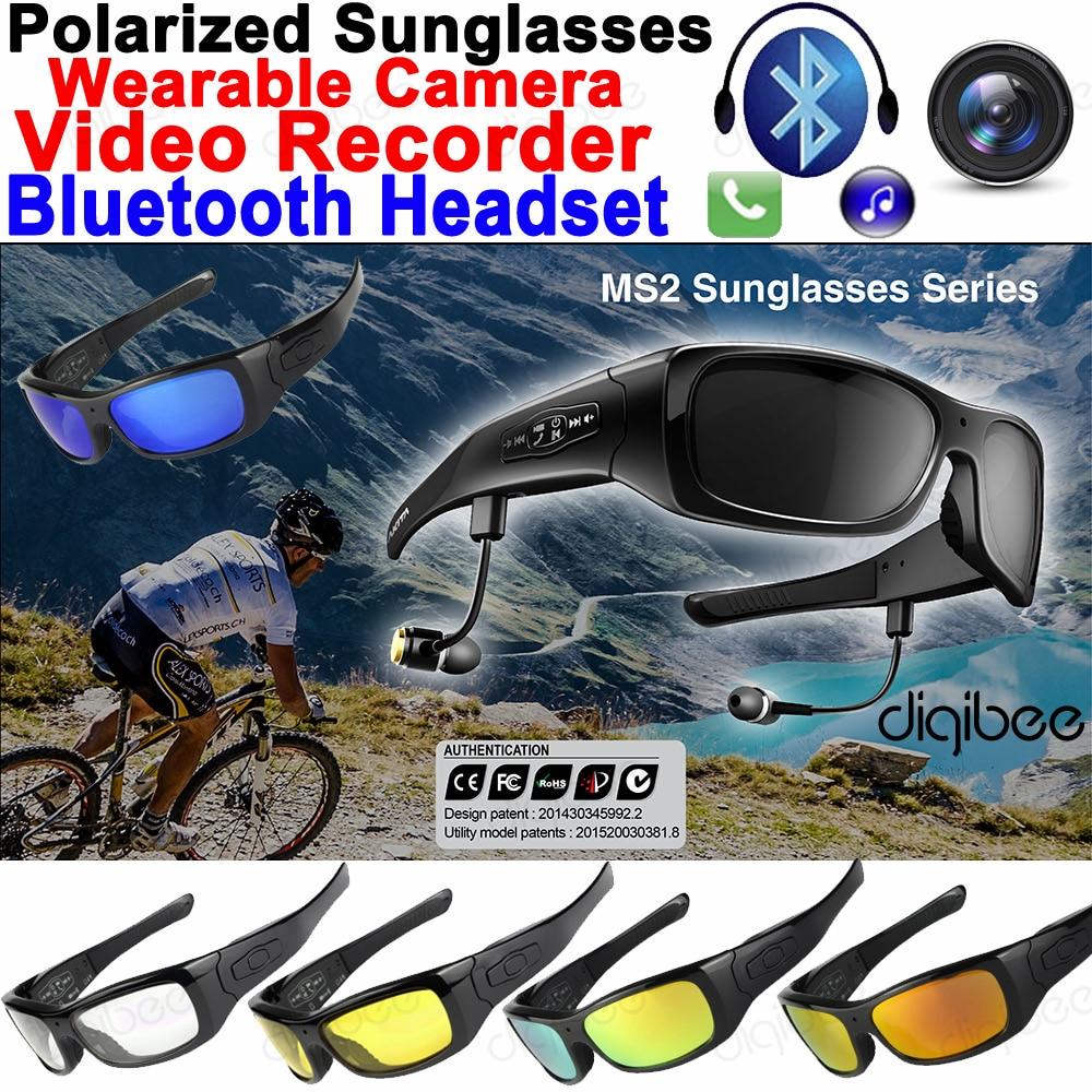 32 GB Óculos De Armação TR90 Óculos Polarizados Óculos de Sol Da Câmera Inteligente fone de Ouvido Bluetooth Fone de Ouvido com Microfone HD 720 P Mini Gravador de Vídeo OTG