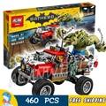 460 pcs novos super-heróis batman filme 07051 killer croc cauda presentes do jacaré-kit modelo de construção diy blocos brinquedos compatível com lego