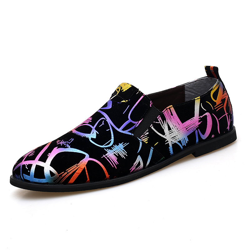 fashion mixed colors leather men shoes luxury brand unique evening male footwear painted designer dress man oxford shoes for men (1)