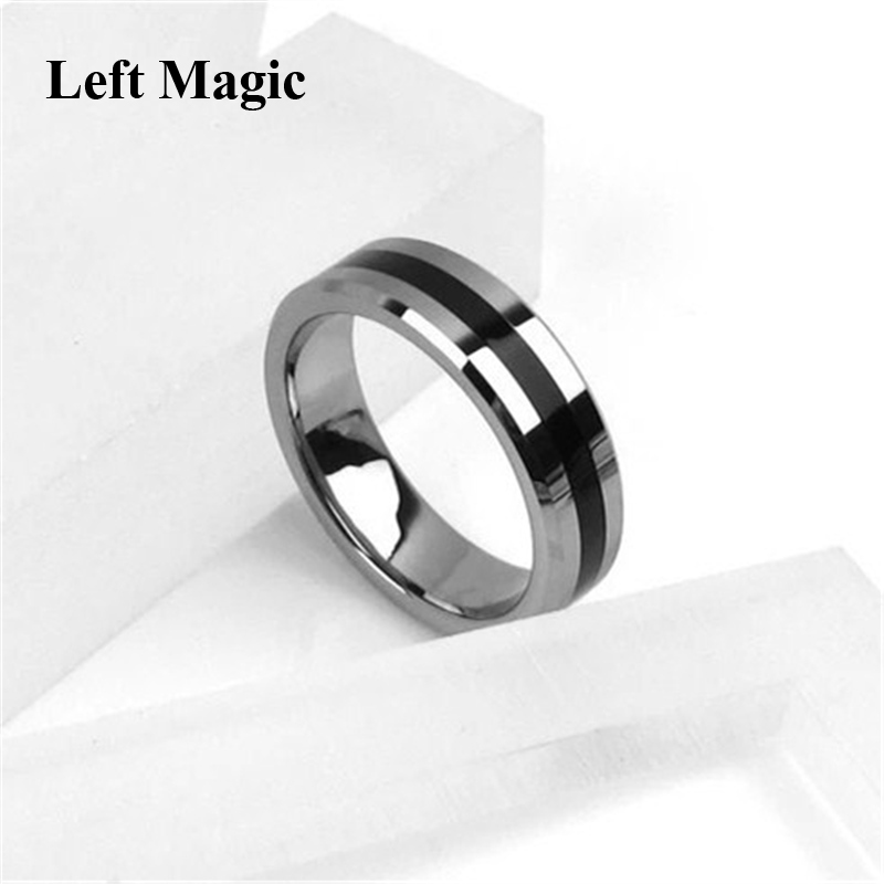 1 Pcs Hot Strong Magnetic Magic Ring Silver And Black Magician Ring Coin Magic Magic Tricks For Magic Show Close Up Magic B1024