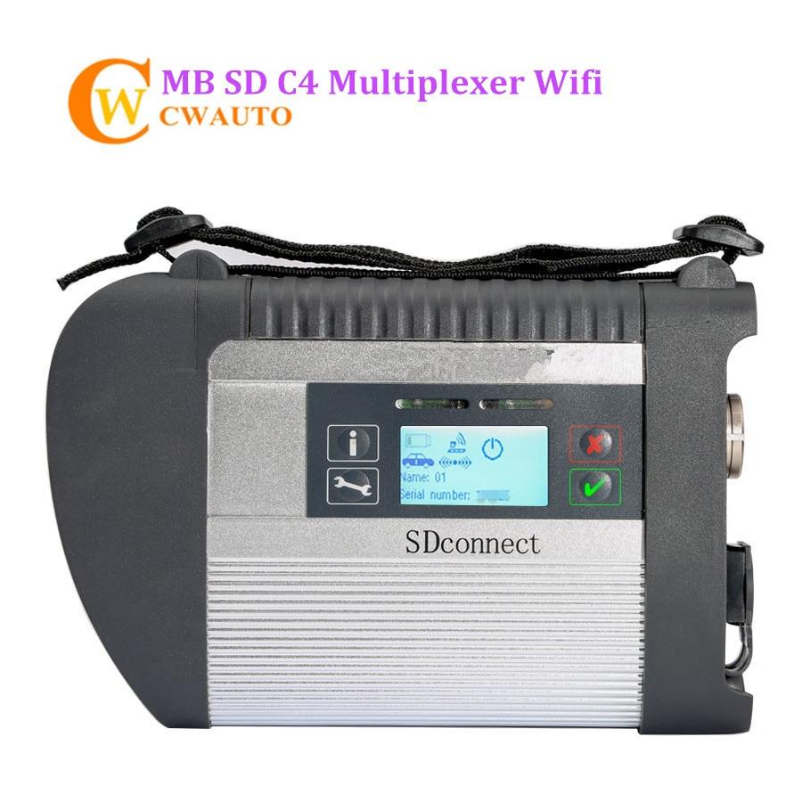New MB Étoile C4 SD Connect Diagnostic Interface Soutien Wifi pour Voitures et Camions Outil De Diagnostic Livraison Gratuite