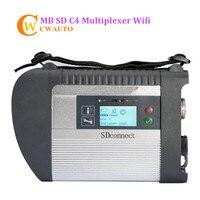 Nuevo MB Estrella C4 SD Conecta Diagnosis Soporte para la Interfaz de Wifi para Los Coches y Camiones Herramienta de Diagnóstico Envío Gratis