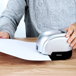 Electric Stapler 2-in-1 punching and binding machine Automatic Electric Stapler 2-Hole Paper Punch 14-20 Sheets Office Supplies