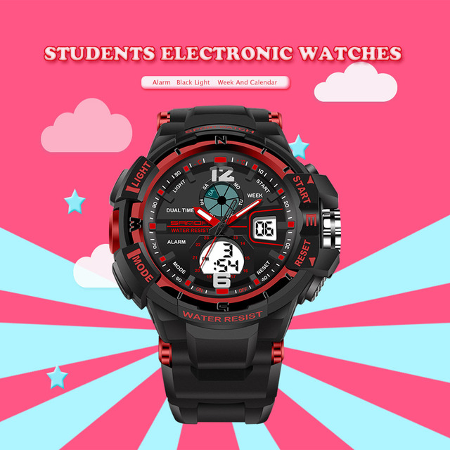 2017 Sanda S Shock Digital Children Watch Women Analog Display 30m Waterproof Boys Girl LED Multifunction Sport Relogio Feminino