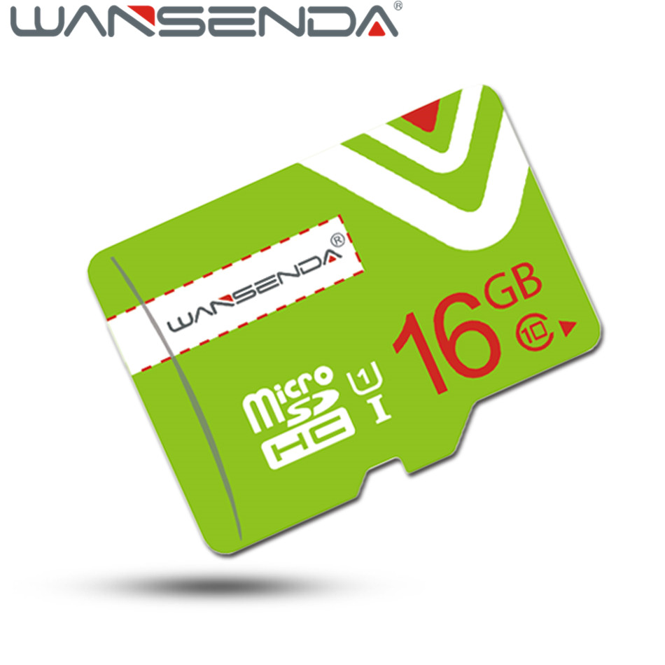 Upgrade Green Wansenda TF Card 16GB 64GB Class 10 tf memory card 4GB 8GB micro tf card High speed 32GB Memory Card with adapter ...