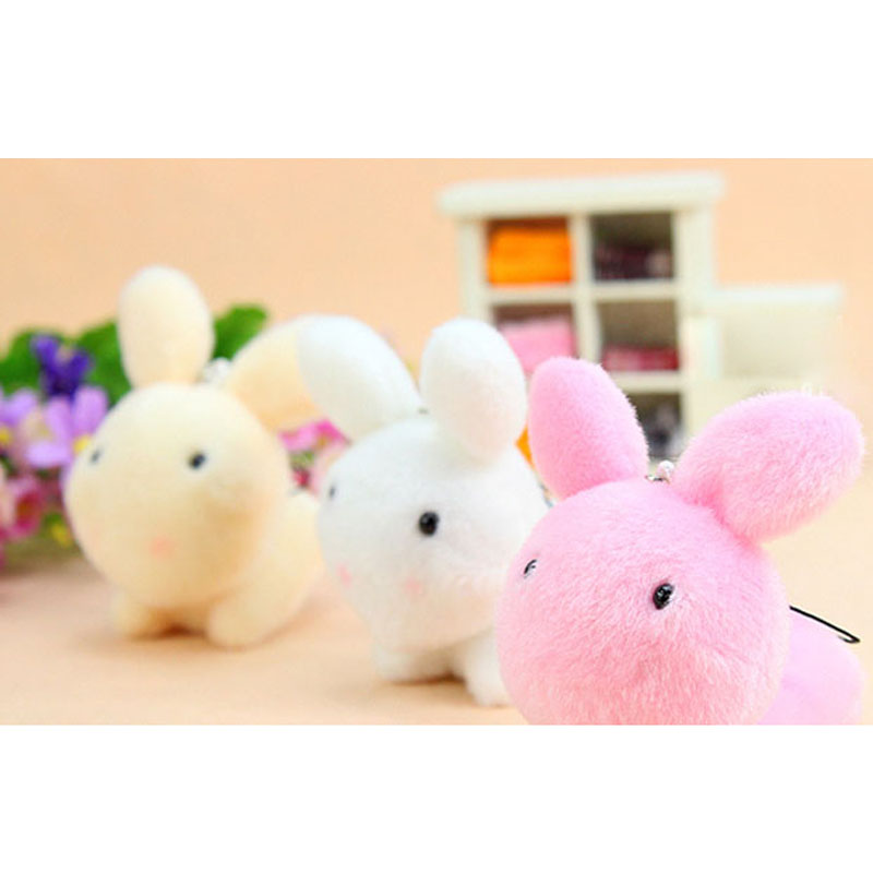c289e3a9523 25pcs lot Kawaii Mini Bunny Plush Toys Flower Rabbit Soft Stuffed Animal Toys  Small Pendant By Phone Bags Gifts For Wedding 019-in Stuffed   Plush  Animals ...