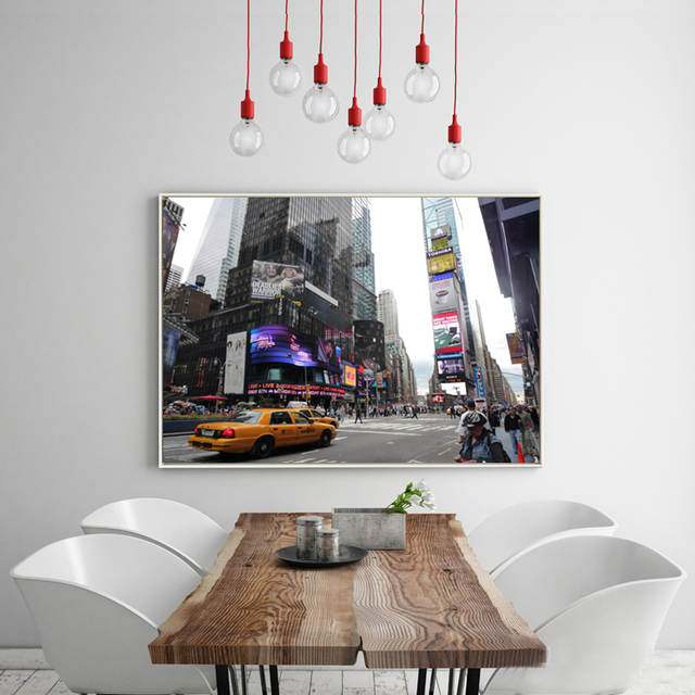 Placeholder Modern Usa New York City Taxi Yellow Fifth Avenue Car Pictures Canvas Art Home Decor Wall