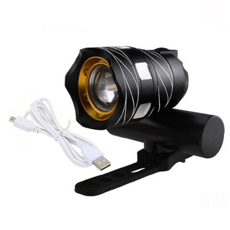 350LM T6 LED Cycling Bike Bicycle Safety Head Light Lamp Flashlight 3 Modes USB
