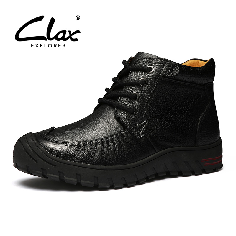 CLAX Women Boot 2017 Autumn Shoe lady Genuine Leather Ankle Shoes Vintage Mom Shoes Retro Casual Footwear Handmade Boots Classic women ankle boots handmade genuine leather woman boots autumn winter round toe soft comfotable retro boot shoes female footwear