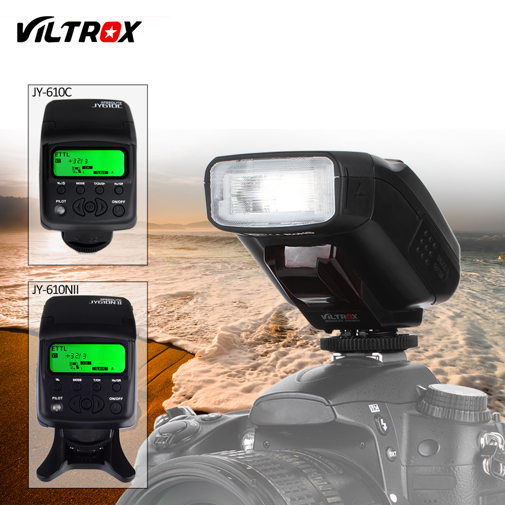 Viltrox JY-610C/N Mini Caméra TTL LCD Flash Light Speedlite pour Nikon D700 D800 D810A D3100 Canon 1300D 80D 77D 5D MARK 2 DSLR