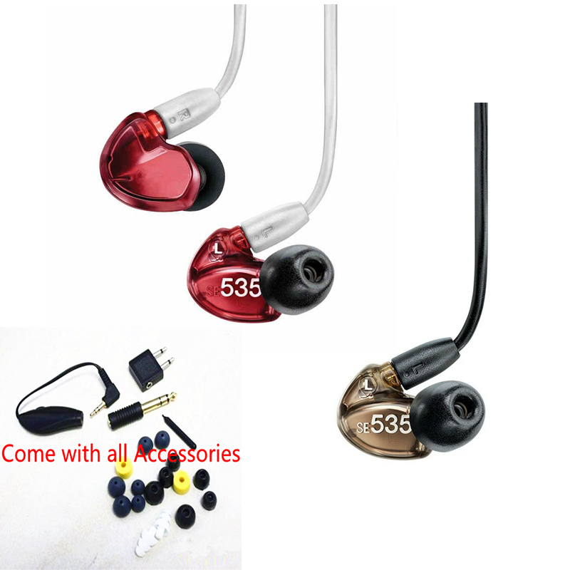 100% Quality Se535 Detchable Earphone 2 Colors Hi-fi Stereo Headphone Se 535 In Ear Earphones With Retail Box Vs Se215 Se 215 Delicious In Taste