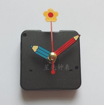 nový 10 sad Quartz Clock Sweep Movement Mechanism Flower Pencil Ruce pro DIY Kids Clock