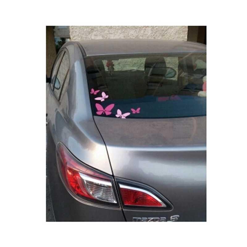 ファッション新ピンクとホットピンク 5x 蝶ビニール車のステッカー、女の子車の窓の装飾ステッカーのための