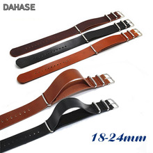 Retro Cowhide Watchbands 18mm 20mm 22mm 24mm Genuine Leather Watch Strap Replacement Leather Bracelet Black Brown Watch Band