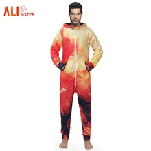 e1a918c82381 USA Flag Floral Print Rompers Men 3d Jumpsuit Fashion Long Sleeve Cargo  Overalls One Piece Tracksuit