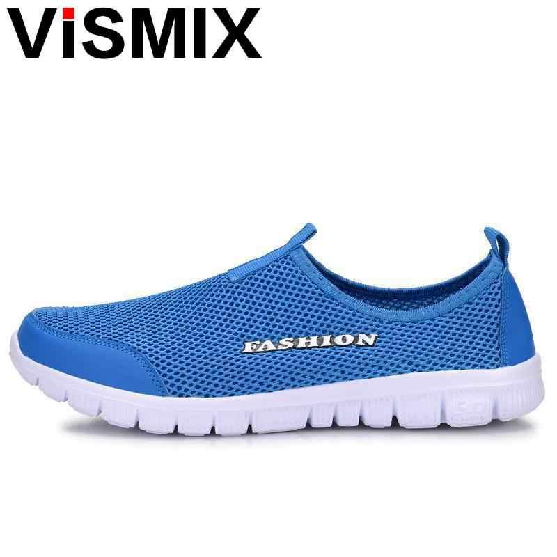 03b0251d9f01 ... VISMIX Men Shoes Fashion 2017 Summer Comfortable Men Casual Shoes Mesh  Breathable Flat Shoes Cheap Shoes ...