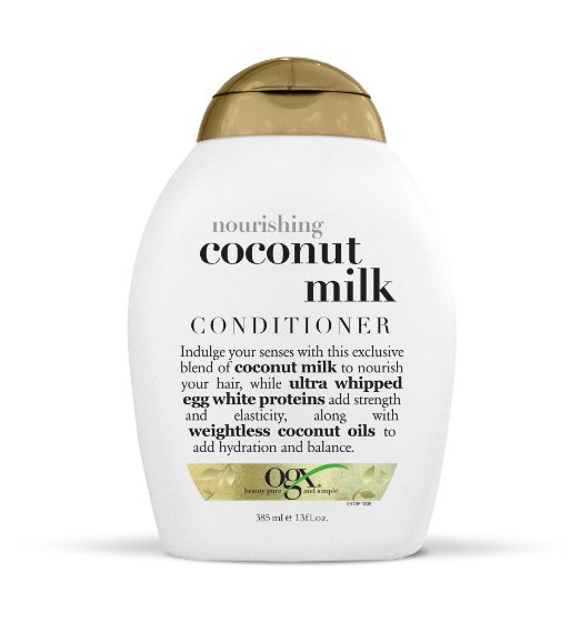 OGX Conditioner, Nourishing Coconut Milk, 13oz ogx nourishing coconut oil weightless hydrating oil mist