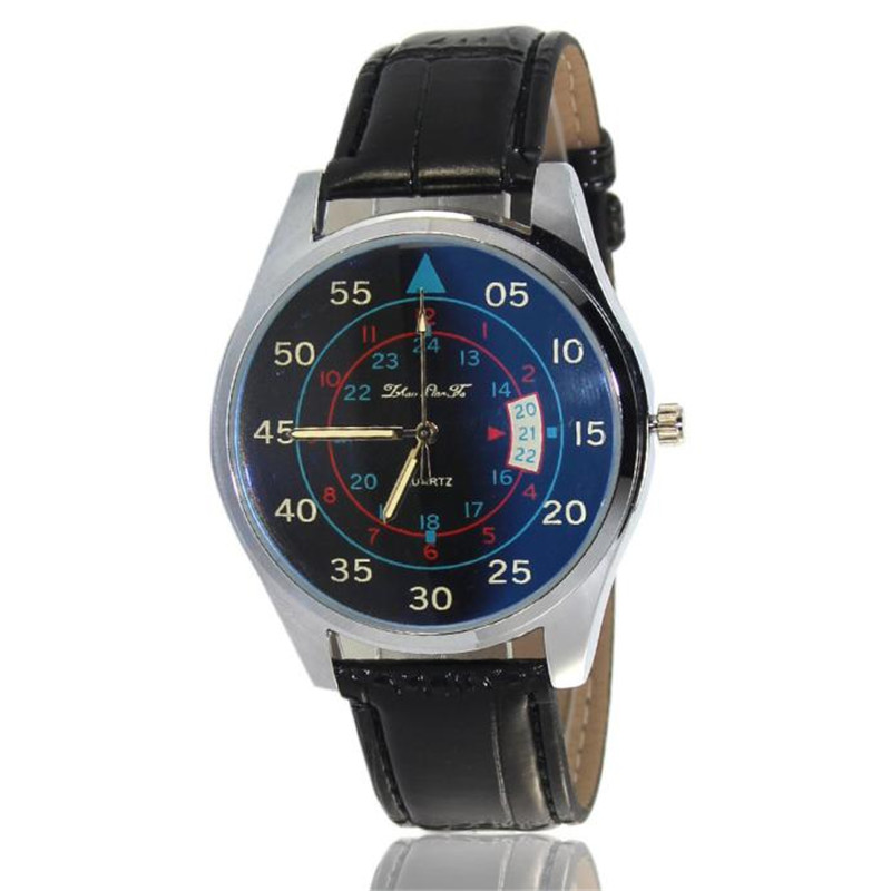 Newly Design Watches Digital Pattern Leather Band Analog Quartz Vogue Wristwatches Fshion Men reloj hombre kol saati Hot Sale ...