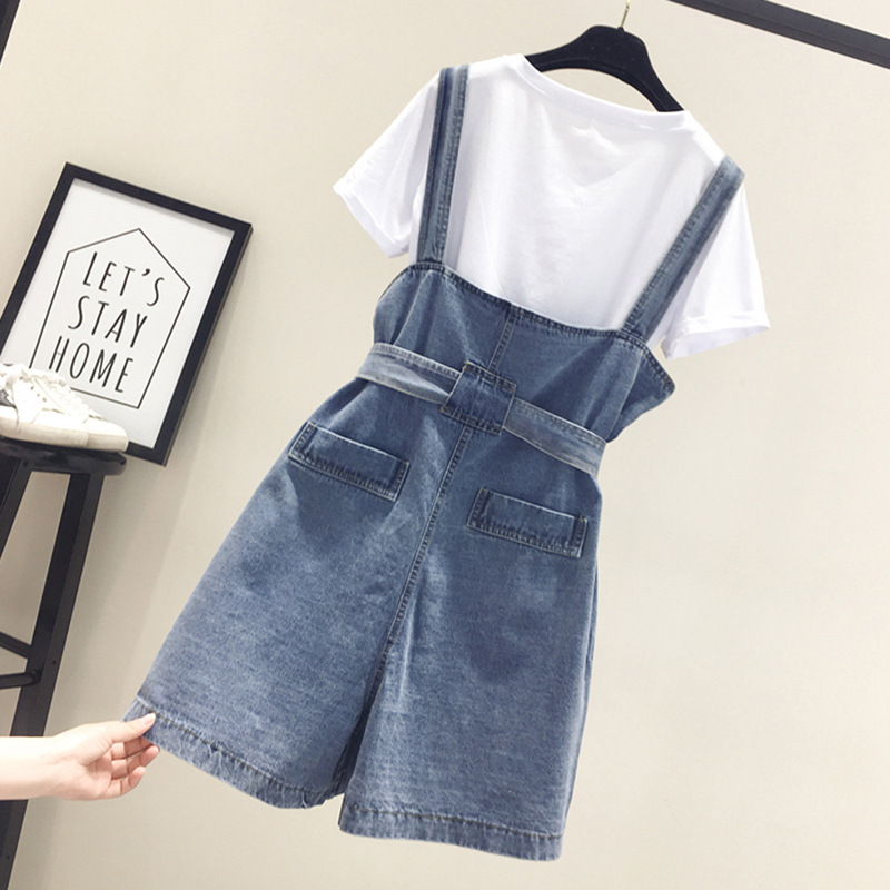 Summer Denim Overalls Short Denim Jumpsuit Romper Women Casual Jeans Playsuits Casual Overalls Shorts Rompers Female Playsuits in Rompers from Women 39 s Clothing