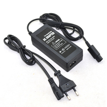 100pcs a lot Wholesale EU Plug AC power adapter supply for N GC gamecube console with power cable