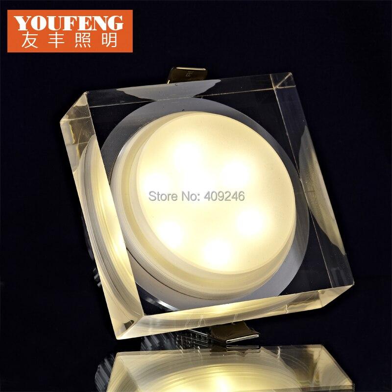 10 шт./лот 6x1 Вт led квадратный потолочный светильник Подпушка, акриловые светодиодный  ...